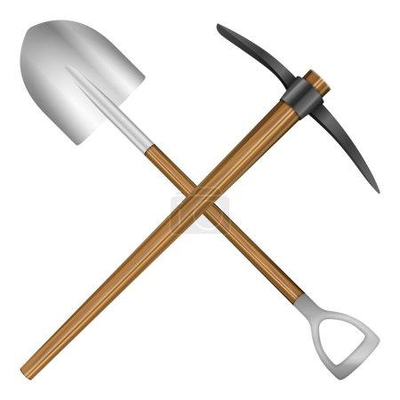 shovel and mattock