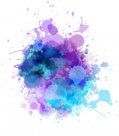 Illustration for Multicolored watercolor splash blot - Royalty Free Image