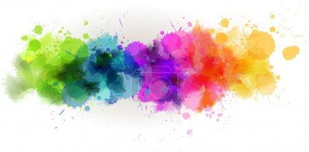 Illustration for Background with multicolored watercolor line - Royalty Free Image