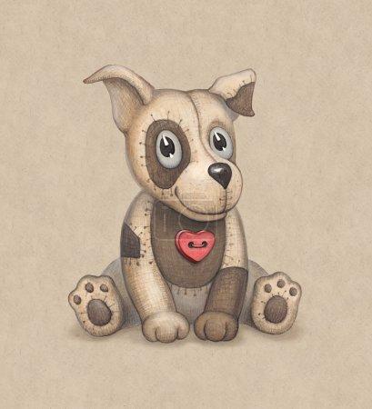 Cute dog toy illustration