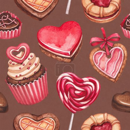 Valentine's Day illustrations collection. Seamless pattern