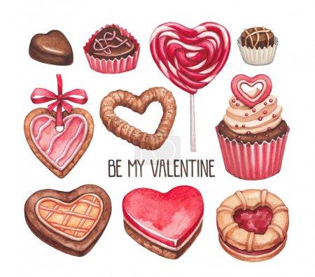 Photo pour Collection d'illustrations Saint-Valentin - image libre de droit