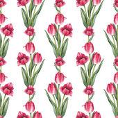 """Постер, картина, фотообои """"цветы тюльпана бесшовный образец"""""""