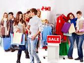 Shopping women at Christmas sales.