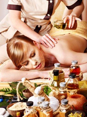 Massage in beauty spa.