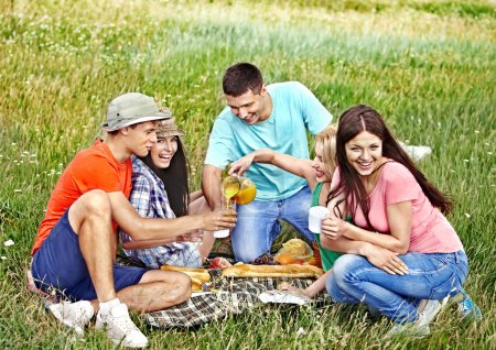 Group on picnic.
