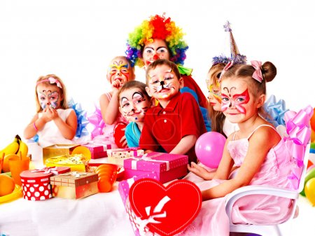 Photo for Child happy birthday party . - Royalty Free Image