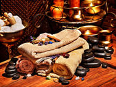 Ayurvedic spa massage nature morte