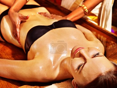 Ayurvedic spa treatment.