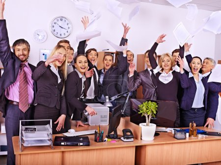 Photo for Happy group of business people in office. - Royalty Free Image