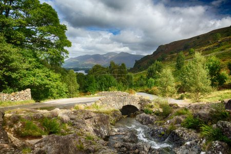 Photo for Traditional stone Ashness Bridge in English Lake District - Royalty Free Image