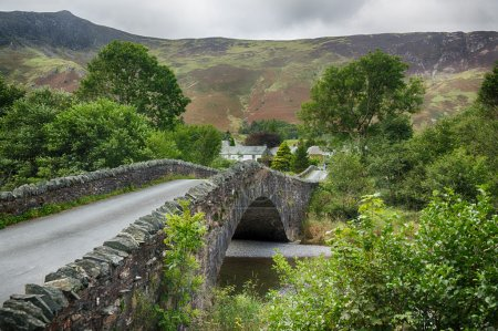 Photo for Traditional stone Bridge at Grange in English Lake District - Royalty Free Image
