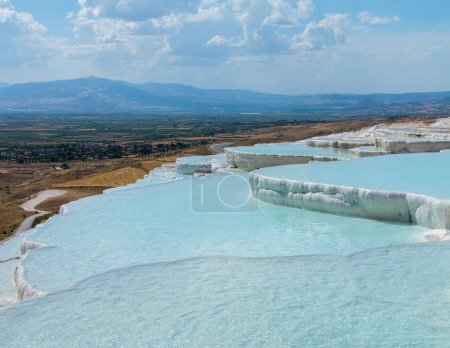 Hot springs and cascades at