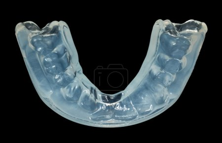 Close up of teeth guard isolated