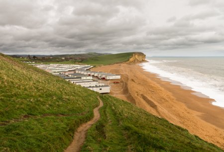 Caravan Park at West Bay Dorset in UK