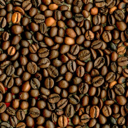Coffee beans closeup background.