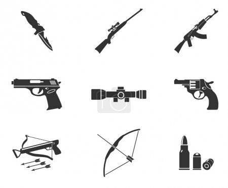 Illustration for Weapon symbols - Royalty Free Image