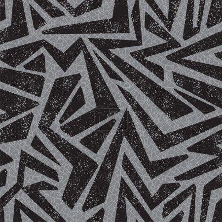 Absract Graffiti nahtlose Muster. Vektor