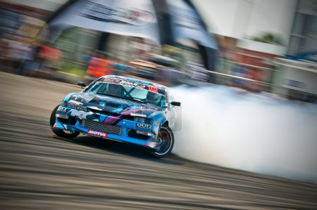 Drift car in action