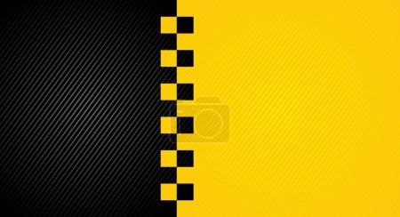 Illustration pour Racing fond orange, taxi modèle de couverture de cabine. Vecteur 10eps - image libre de droit