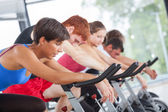 Group of Cycling at Gym