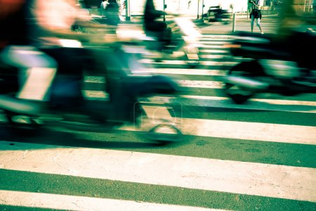 Photo for Traffic in the City, Blurred Motion - Royalty Free Image