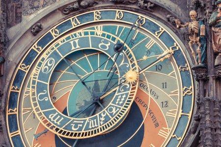 Famous Astronomical Clock in Prague