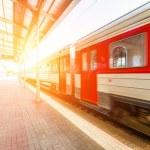 Train at Station in Vilnius...