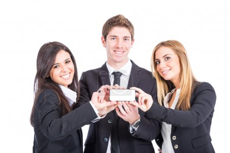 Business Team Holding Smartphone
