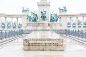 Heroes Square in Budapest with Snow