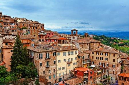 Bird's Eye View to Historic Center City of Perugia...
