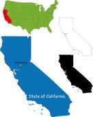 Mapa Kalifornie