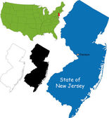 Illustration of State of New Jersey USA