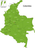 Green Colombia map
