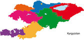 Colorful Kyrgyzstan map