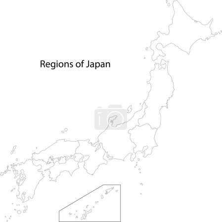 Contour Japan map