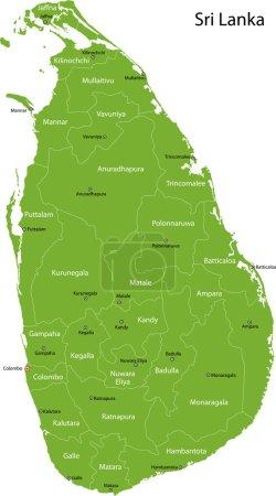 Green Sri Lanka map