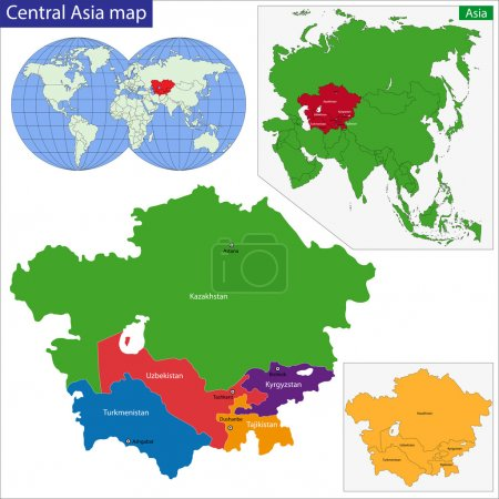 Zentralasienkarte