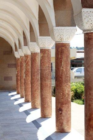 Colonnade of greek church