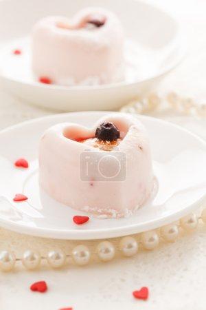 Heart-shaped dessert for Valentine's Day