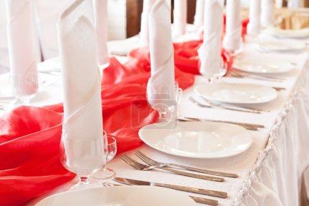 Photo pour Réglage de table de mariage - image libre de droit