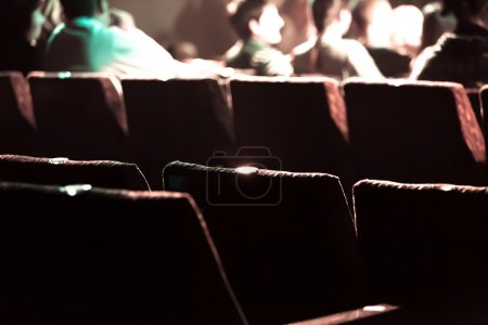 Movie theater with red seats