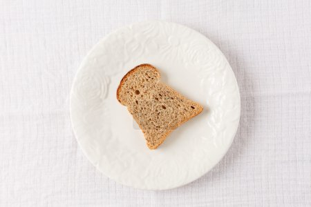 Toast on the plate