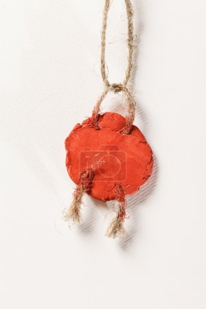Wax seal on the white