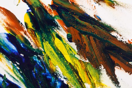 Photo for Colorful oil paint palette - Royalty Free Image