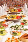 τρόφιμα σε ένα πάρτι γάμου