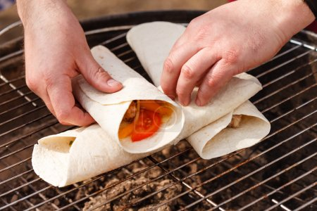 Chef making tortilla