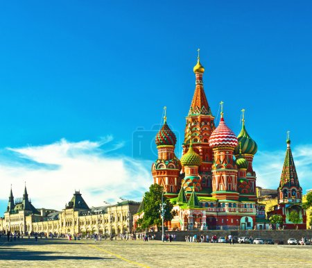Photo for Saint Basils cathedral; Moscow, Russia - Royalty Free Image