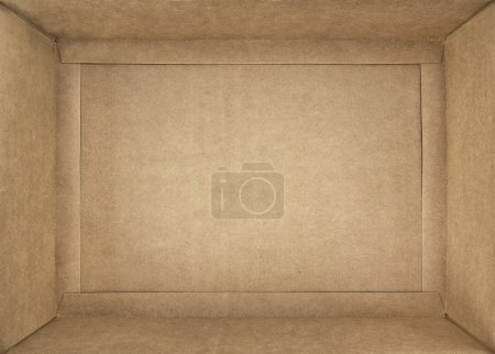 Photo for Empty cardboard box, closeup - Royalty Free Image