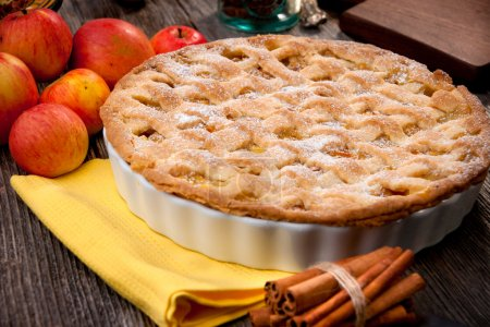Photo for Closeup of a beautiful homemade Apple Pie - Royalty Free Image